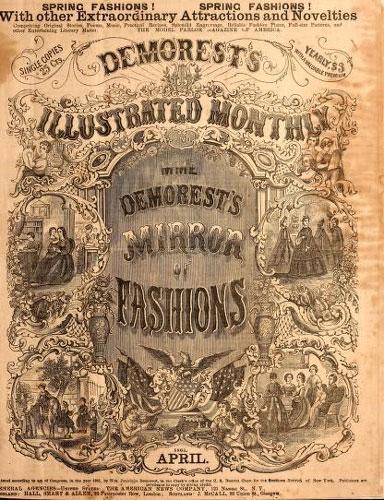 ترجمه مجله | ماهنامه مصور Demorest و کاتالوگ آینه مد، متشره توسط خانم میمه دمورست، آوریل 1865